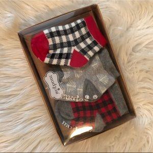 MudPie Christmas Baby Socks